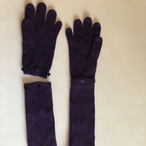 Armani Exchange wool long gloves. Arm warmers.